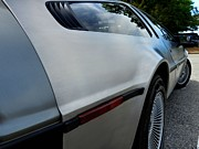 Delorean Posters - DeLorean DMC-12 Poster by Lance Vaughn