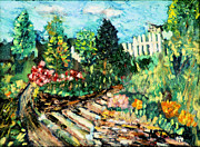 New Jersey Painting Originals - Delphi Garden by Michael Daniels