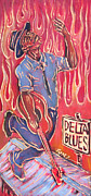 Ponz Prints - Delta Blues Print by Robert Ponzio