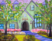 University Of Arkansas Painting Originals - Delta House by Stacy Spangler