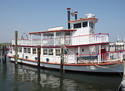 Boat Slip Posters - Delta Lady Riverboat Out Of Captree Poster by John Telfer