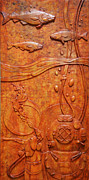 Sacred Art Reliefs - Delve - A Deep Sea Divers Icon by Jeremiah Welsh