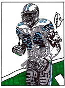 Dallas Drawings Metal Prints - DeMarcus Ware Metal Print by Jeremiah Colley