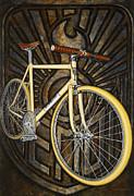 Demon Path Racer Bicycle Print by Mark Howard Jones