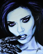 Glove Painting Originals - Demure Bianca Balti by Shirl Theis