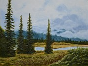 Mary Rogers Prints - Denali Morning Print by Mary Rogers