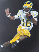 Wolverines Posters - Denard Heisman Poster by Travis Day