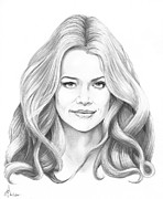 People Drawings Originals - Denise Richards by Murphy Elliott