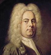 George Frederick Handel (1685-1759); Framed Prints - Denner, Balthasar 1685-1749. George Framed Print by Everett