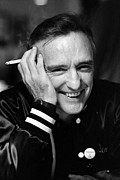 Dennis Hopper Framed Prints - Dennis Hopper 3 Framed Print by Rolf Adlercreutz