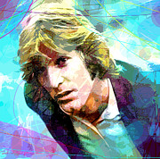 Pop Singer Framed Prints - DENNIS WILSON - Pacific Ocean Blue Framed Print by David Lloyd Glover