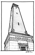 University Of Alabama Drawings Prints - Denny Chimes Print by Calvin Durham