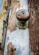 Doorknobs Prints - Dented Doorknob Print by Caitlyn  Grasso