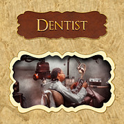 Dds Prints - Dentist button Print by Mike Savad