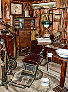 Old Time Prints - Dentist - The Dentist Chair Print by Paul Ward