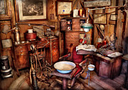 Country Scenes Framed Prints - Dentist - The doctor will be with you soon  Framed Print by Mike Savad