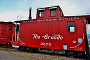 Old Caboose Framed Prints - Denver and Rio Grande Western 0575 Ridgeway Colorado Framed Print by Janice Rae Pariza