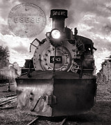 Steam Train Prints Art - Denver and Rio Grande Western 483 with Builders Plate version 2 by Ken Smith