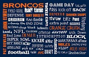 Broncos Prints - Denver Broncos Print by Jaime Friedman