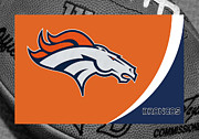 Denver Broncos Photo Posters - Denver Broncos Poster by Joe Hamilton