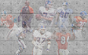 Broncos Metal Prints - Denver Broncos Legends Metal Print by Joe Hamilton