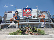 Broncos Photo Framed Prints - Denver Broncos Sports Authority Field Framed Print by Joe Hamilton
