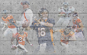 Broncos Metal Prints - Denver Broncos Team Metal Print by Joe Hamilton
