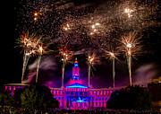 Denver Colorado Independence Eve Fireworks Print by Teri Virbickis