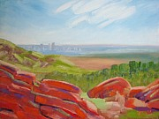 Loop Paintings - Denver in the Distance by Margaret Bobb