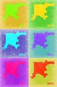 Denver Pop Art Map 3 Print by Irina  March