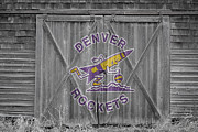 Dunk Photo Framed Prints - Denver Rockets Framed Print by Joe Hamilton