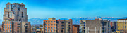Rooftops Art - Denver Rooftops Panorama by Angelina Vick