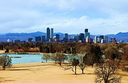 Valerie Beasley - Denver Skyline in Winter
