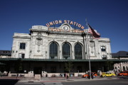 Flag Framed Prints Posters - Denver - Union Station Poster by Frank Romeo