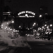 Rio Grande Prints - Denver Union Station Square Image Print by Ken Smith