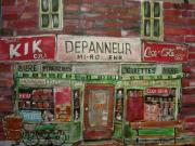 Kik Cola Paintings - Depanneur Mi-ro by Michael Litvack