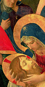 Virgin Mary Paintings - Deposition from the Cross by Fra Angelico