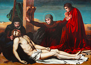 Christ Images Digital Art Prints - Deposition Of Jesus Christ Print by Jean Leon Palliere