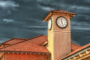 Clock Hands Photo Prints - Depot Time Print by Brenda Bryant