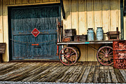 Huckleberry Posters - Depot Wagon Poster by Kenny Francis