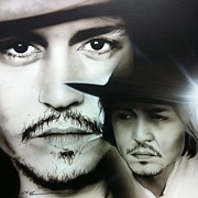 Depp Framed Prints - Depp Framed Print by Christian Chapman Art