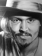 Popart Drawings Prints - Depp Print by Richard James