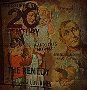 Franklin Metal Prints - Depression in the 20th Century - 2 Metal Print by Jeff Burgess