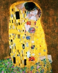 Klimt Metal Prints - Der Kuss or The Kiss by Gustav Klimt Metal Print by Pg Reproductions