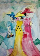 Kentucky Derby Painting Originals - Derby Ladies by Kelly Turner