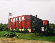 Red School House Paintings - Derby School House In Derby Ohio Pickaway County  by Rita Miller
