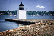 Derby Photos - Derby Wharf Light by Joan Carroll