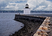 Derby Photos - Derby Wharf Lighthouse by Skip Willits