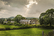 English Cottages Prints - Derbyshire Cottages Print by Christopher and Amanda Elwell