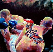 Boxer Paintings - Derek Panza by Robert Phelps